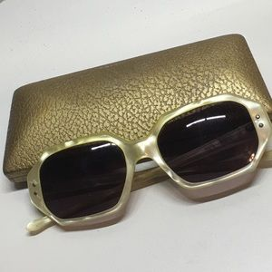 Vintage mother of pearl sunglasses with org case